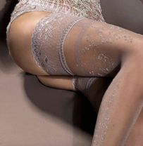 Grey Lace Top hold-up stockings with Silver Lurex , Ballerina 295